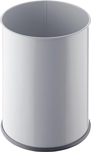 Helit H2515082 Corbeille à papier métallique 15 l (Gris clair)