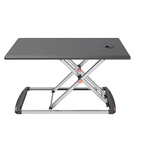 Maoviwq Mesa de pie ajustable altura ajustable ordenador portátil escritorio de pie 29 'X forma marco de acero trabajo saludable para el hogar oficina de pie convertidor de escritorio