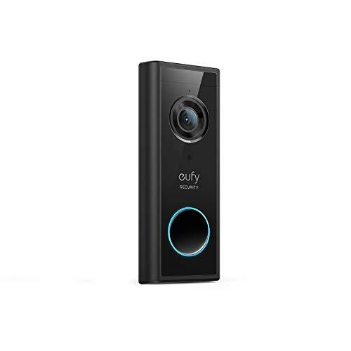 eufy Security, Video Timbre Inalámbrico adicional (alimentado por batería) con 2K HD, IA en el dispositivo para detección humana, audio bidireccional, utoinstalación sencilla, requiere HomeBase2