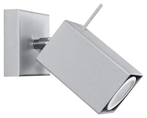 Sollux SL.0455 - Lampada da parete MERIDA 1, moderna luce a LED grigia per soggiorno, camera da letto, bagno, corridoio, ufficio, attacco GU10