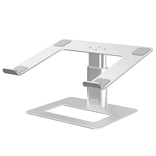 BoYata Soporte para portátil ventilado de altura ajustable, soporte para portátil compatible con MacBook Pro / Air de 10… 1