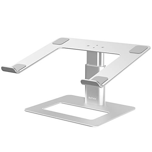 BoYata Laptop Stand, Ergonomic Aluminum Height Adjustable Computer Stand Laptop Holder for Desk, Compatible with MacBook Pro/Air, Dell, Lenovo, HP, Samsung, More Laptops 11-17'