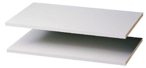 Easy Track 2 Count Closet Shelves, 24' - 2 Pack, White