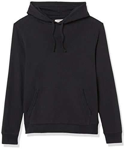 Amazon Brand - Goodthreads Men's Lightweight French Terry Pullover Hoodie Sweatshirt, Black, Large