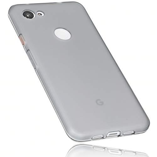 mumbi Hülle kompatibel mit Google Pixel 3a Handy Case Handyhülle, transparent schwarz