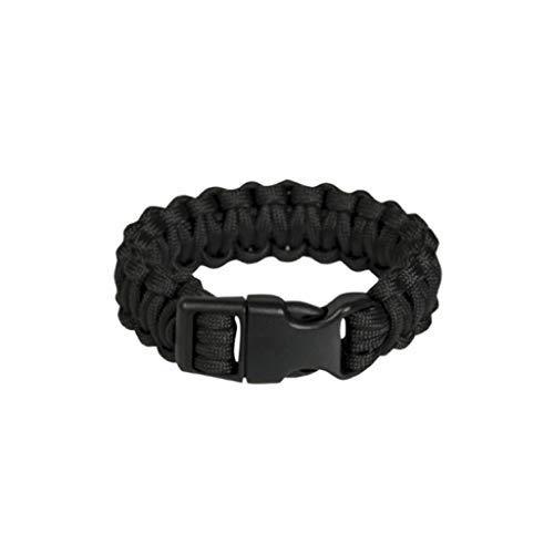 YDS Mil-Tec - Pulsera de supervivencia para hombre, pulsera de paracord militar, para senderismo, camping, aventura, color negro
