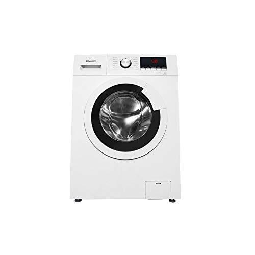 Hisense WFHV8012 - Lavadora Carga Frontal 8 Kg, 1200 RPM, 15 Programas, Color Blanco, Gran Display LED, Lavado rápido, Bloqueo Infantil
