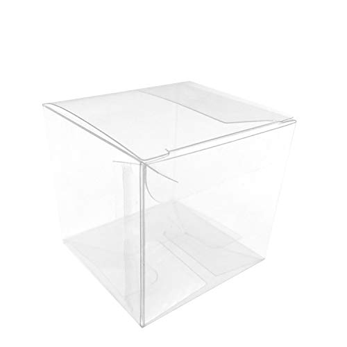 Clear Plastic Party Favors Boxes - Transparent Candy Treat Boxes Wedding Birthday Party Favors Small Gift Packaging Boxes Supplies, 2x2x2 inch, 50pc