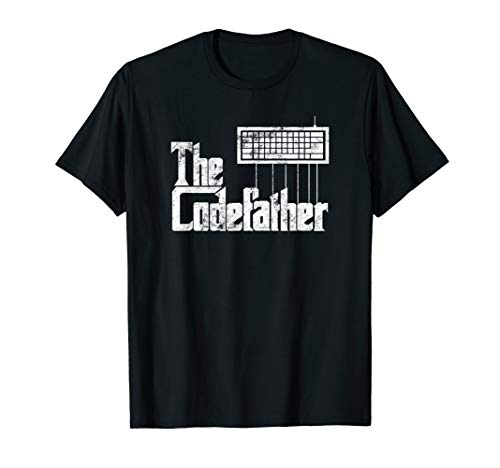 Funny programmer t shirt The Codefather t shirt vintage T-Shirt