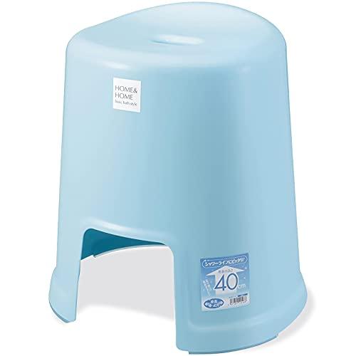 リス風呂椅子H&Hブルー高さ40cm『防カビ加工』日本製
