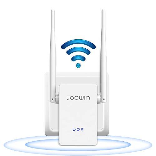 JOOWIN Repetidor WiFi Amplificador Señal WiFi 300Mbps Inalámbrico WiFi Extensor con Botón WPS Repetidores Punto Acceso, Puerto Ethernet, 2 Antenas Externas, Modos Repetidor/Enrutador/Ap