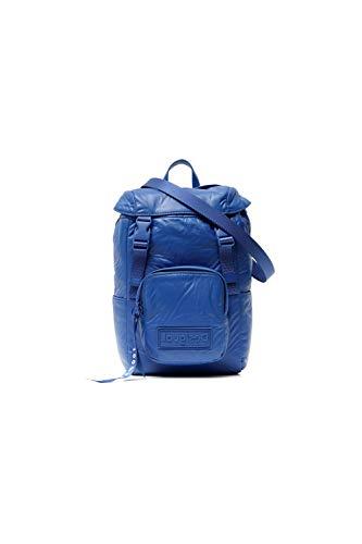 Desigual, Fabric Backpack Mini-Mochila para Mujer, azul, Medium