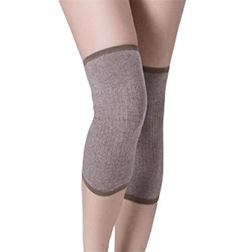 Xme 2 Packungen ultradünne Kaschmir-Knieschoner, leichte Stretch-Knieschoner, warme Outdoor-Leggings