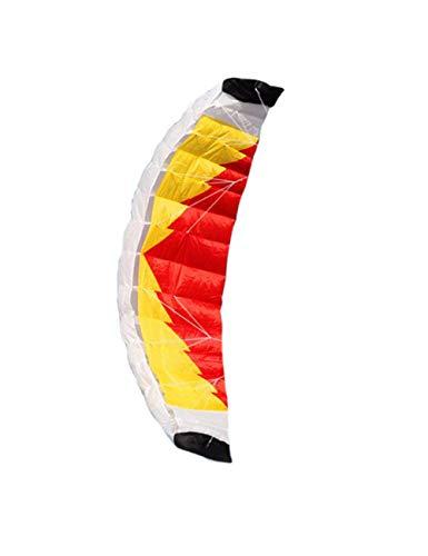 LJPHRR Cometa De Paracaídas De Doble Línea De Nylon De 2 M con Barra De Control Línea Trenzado Eléctrico Vela Kitesurf Rainbow Sports Beach,Cometa,Un