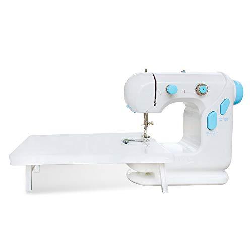 SXSHYUSU Multifunción Máquina de Coser Sastre Portatil y Versátil con Gran Mesa de Costura, Fácil de Usar y Práctica, Mini Eléctrica Portátil, White