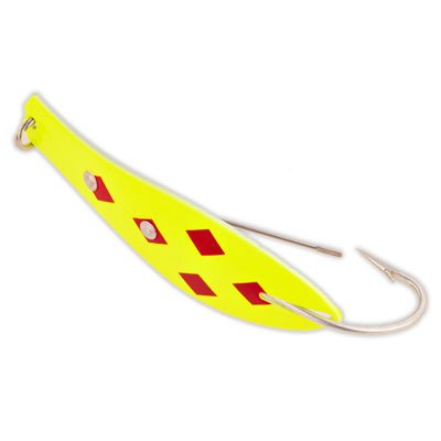 Doctor Spoon Yellow Bird Fishing Products Weedless Fishing Lure (315- Yellow/Red 5 of Diamonds, Size- 4-1/2')