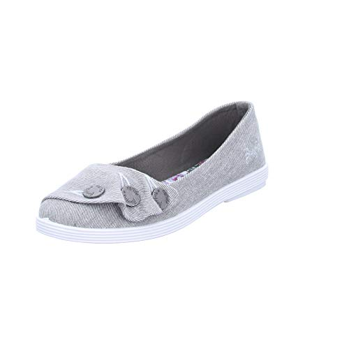 Blowfish Damen Gogogo Ballerinas, Grauer Hipster Smoked Twill, 36.5/37 EU