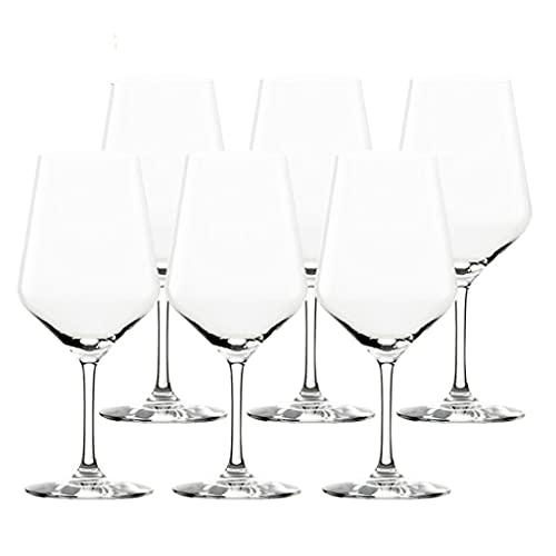 LICHUAN Copas de vino de cristal sopladas a mano, gran embalaje de regalo, copas de vino tinto sin plomo, cristal transparente, juego de 6 copas de vino (color 650 ml x 6)