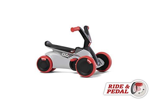 Berg GO² 2in1 Rutschauto | Rutscher und Laufrad, Kinderrutscher, Kinderauto mit Ausklappbare Pedale, Pedal-Gokart, Kinderspielzeug geeignet für Kinder im Alter von 10-30 Monaten (Rot)