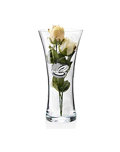 Vaso Anniversario Nozze | Cristallo e Argento | Altezza 34 cm | 2R argenti