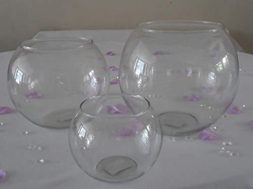 St@llion Unieke Stijl Kleine Medium Grote Glas Bloem Sweets Vaas Bal Vis Bowl - Bruiloft Centrepiece, Medium