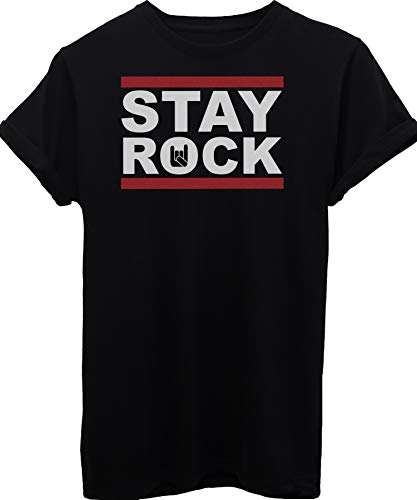 iMage T-Shirt Stay Rock - Music - Bambino-M-Nera