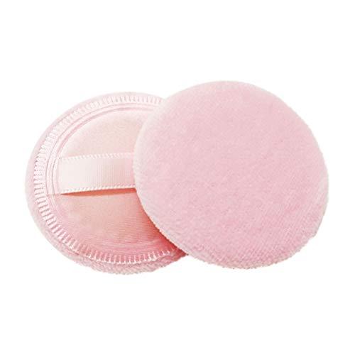 8pcs ronde mélange de mélange de poudre de coton soufflé feuilletée avec ruban pour coussin de fondation cosmétique en vrac