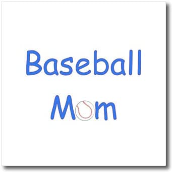 3dRose Mom Text Design Bombing new work in Red White and Baseball. - Sale with Blue a