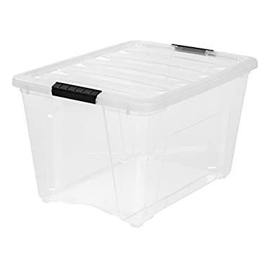 IRIS 53 Quart Stack & Pull Box, Clear