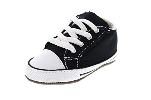 Converse Baby Chucks Schwarz Chuck Taylor All Star Cribster Canvas Color - Mid Black Natural Ivory White, Groesse:17