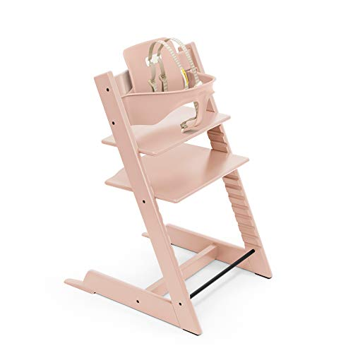 Tripp Trapp by Stokke Adjustable Wooden Serene Pink Baby High Chair