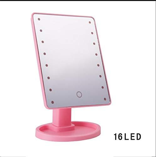 TAMZFE Make-upspiegel met ledlampjes, verlichte spiegel voor make-up, verlichte make-upspiegel, dimbaar, werkt op batterijen
