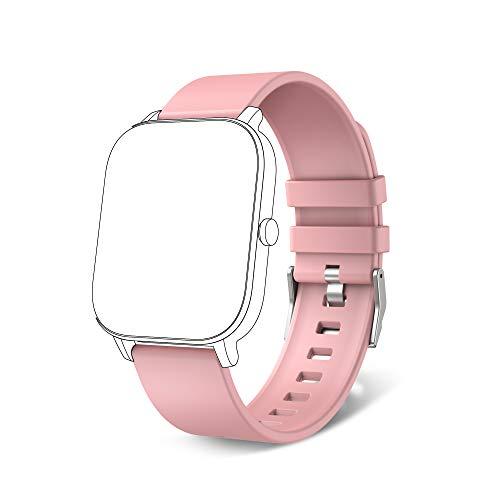 MoreFit, cinturino di ricambio regolabile per uomo e donna, colore rosa