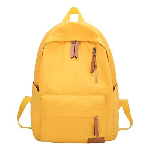 potente para casa Mochila escolar de ocio URIBAKY, mochila de lona sólida para niñas y niños …