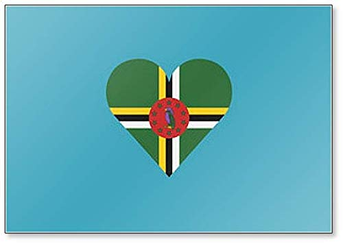 Dominica Flagge in Herzform Illustration Klassischer Kühlschrankmagnet