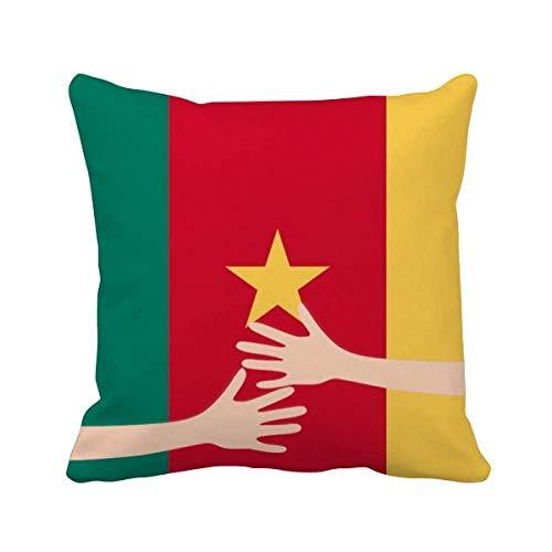 Kissenbezug mit Kamerun-Flagge, Afrika