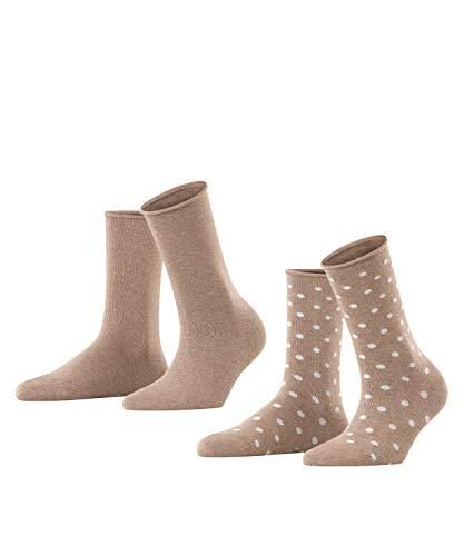 ESPRIT Damen Dot 2-Pack W SO Hausschuh-Socken, Braun (Nutmeg Melange 5410), 39-42 (2er Pack)