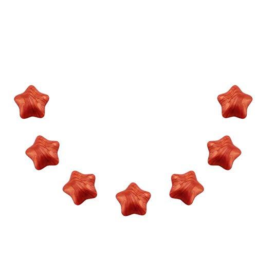 Xndz Perlas de Cera para sellar, Perlas de Cera para sellar, pequeñas, Decorativas para Tarjetas de invitación para adornar Sobres(Red Gold)