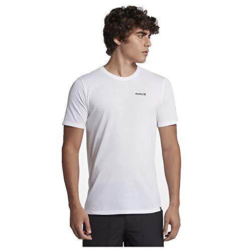 Hurley Men's Dri-Fit One & Only 2.0 Short Sleeve, White (100), Medium