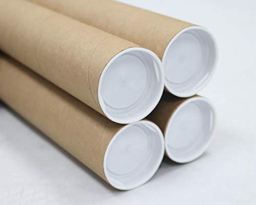 2 inch x 12 inch Mailing Tubes with Caps 4 Pack | MagicWater Supply