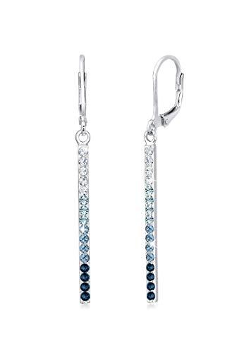 Elli Ohrringe Damen Ohrhänger Geo Stab mit Kristallen in 925 Sterling Silber
