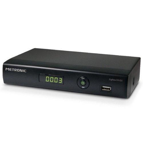 Metronic 441622 Décodeur / Adaptateur TNT HD Haute-définition Double Tuner - Zapbox EH-D2 - Noir