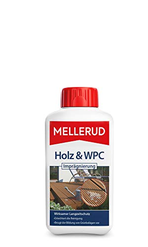 Mellerud 2001002800 Holz & WPC Imprägnierung 0,5 L, Weiß