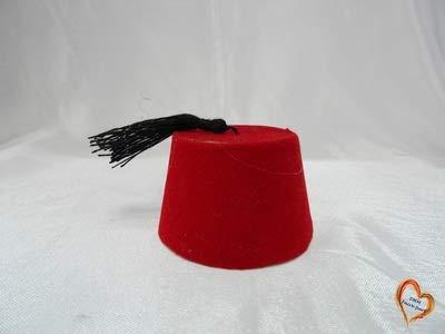 Boite à Dragée Fez Tarbouche Chapeau 10 Pièces (Rouge)