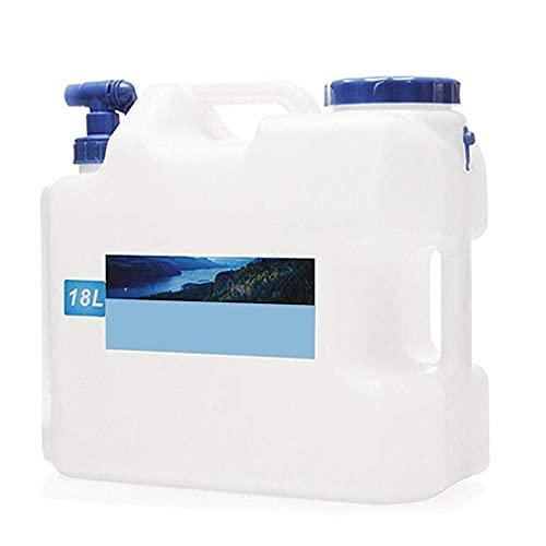 CHQUAN クラスZ携帯用ウォーターキャニスター付き固定栓 水出口BPAフリープラスチックカーウォータータンクキャンプ屋外BBQと長い旅行など、10L 15L 18L