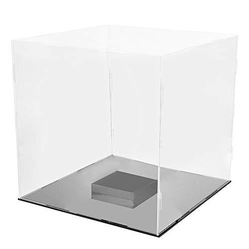freneci 30x30x30cm Caja Transparente Caja A Prueba De Polvo Cubo Perspex para Pantalla De Baloncesto