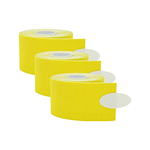 Wankd 3PCS Kinesiologie Tapes Tape Sport 5cm x 5m Rollenlänge Elastisches Therapeutisches Tape für Plantarfasziitis, Knöchel, Schienbeinkantensyndrom, Knie, Gelenk, Handgelenk,Weihnacht Geschenk