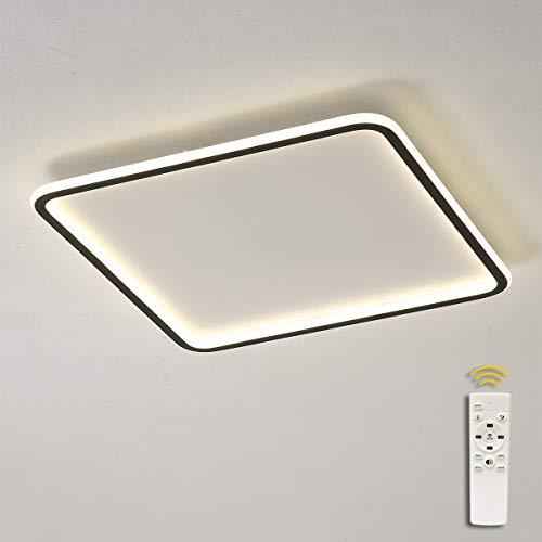 LED Lámpara de Techo Cuadrada Regulable con mando a distancia, Moderna Plafón...