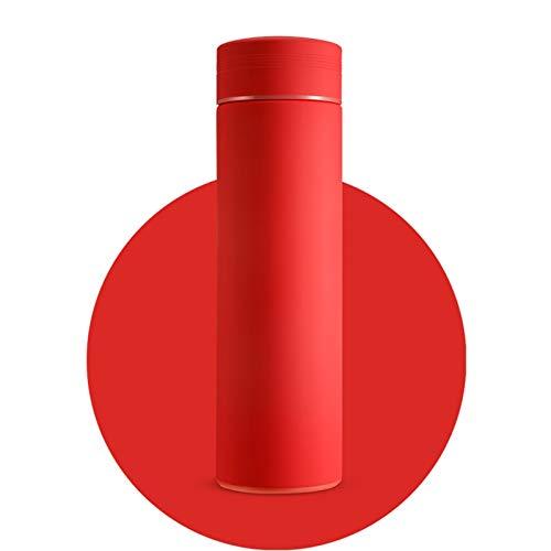 LCYYDECO HDHWZ Frasco de vacío con Filtro Thermos Botella Acero Inoxidable 304 Taza térmica Taza Taza de café Botella de Agua Oficina Hogar Thermo (Capacity : 500ml, Color : Red)