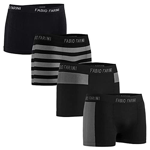 Fabio Farini 4er-Pack Seamless Herren Sport Boxershorts aus Mikrofaser - Set 34 M